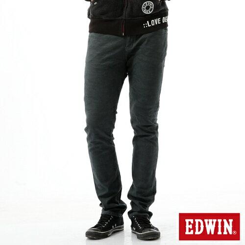 【過年加碼。2件再9折優惠↘】EDWIN EDGE迷彩提織後染窄直筒褲-男-墨綠 0