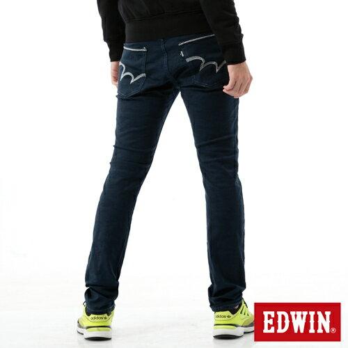 【9折優惠↘】EDWIN EDGE迷彩提織後染窄直筒褲-男-丈青 1