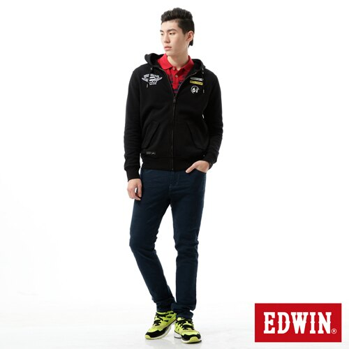 【換季最終波。任2件再9折優惠↘】【大尺碼】EDWIN EDGE迷彩提織後染窄直筒褲-男-丈青 2