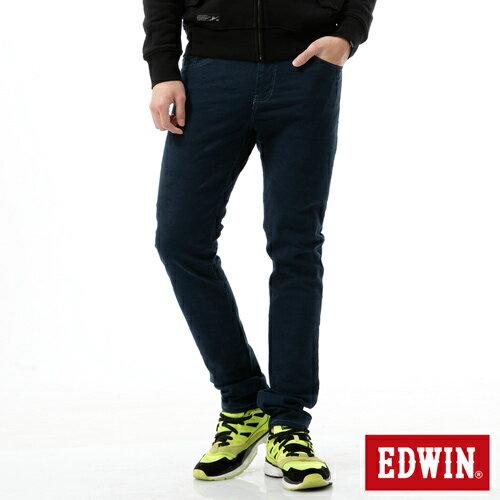 【換季最終波。任2件再9折優惠↘】【大尺碼】EDWIN EDGE迷彩提織後染窄直筒褲-男-丈青 1