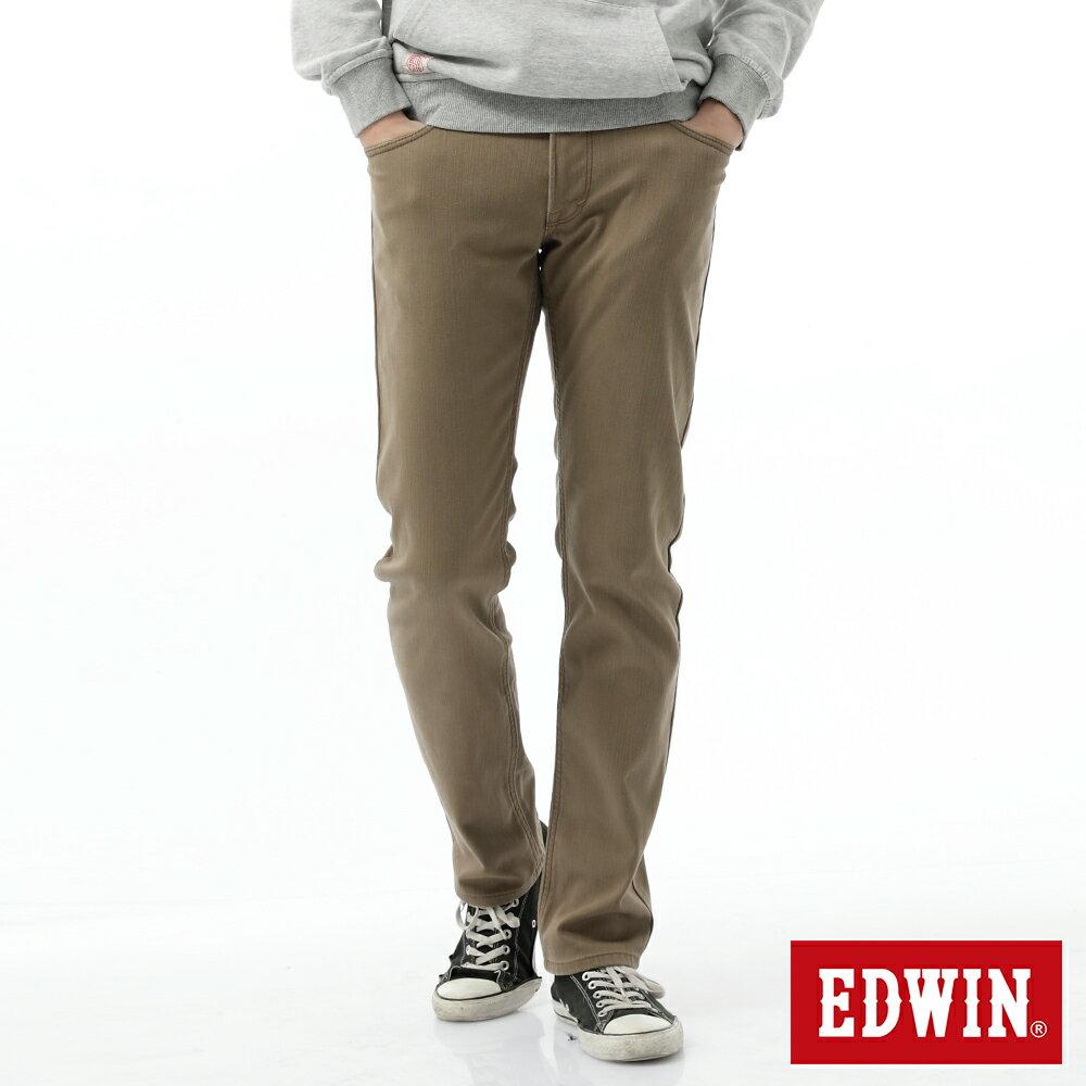 新品↘EDWIN EDGE LINE W.F 保溫中直筒牛仔褲-男款 褐色 STRAIGHT 0