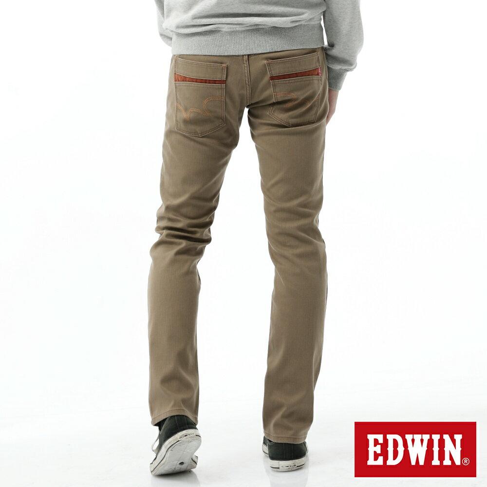新品↘EDWIN EDGE LINE W.F 大尺碼 保溫中直筒牛仔褲-男款 褐色 STRAIGHT 1