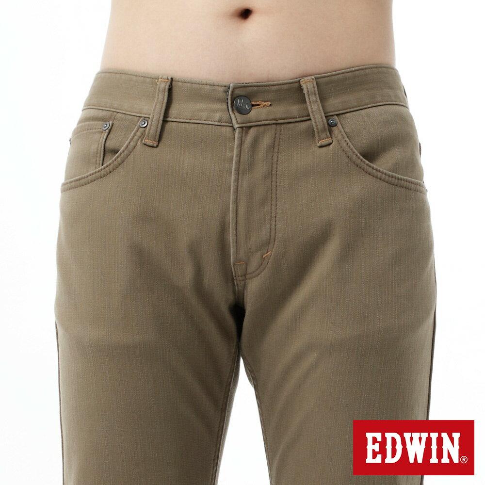 新品↘EDWIN EDGE LINE W.F 大尺碼 保溫中直筒牛仔褲-男款 褐色 STRAIGHT 4
