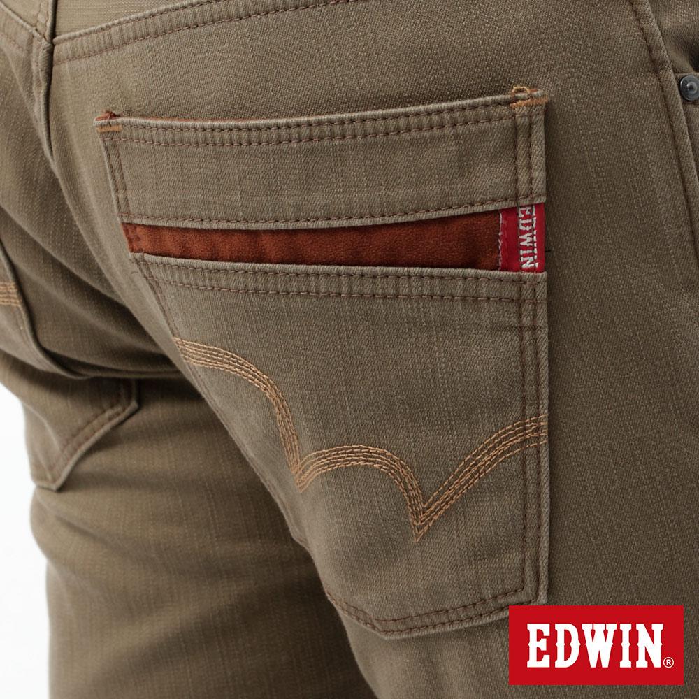 新品↘EDWIN EDGE LINE W.F 大尺碼 保溫中直筒牛仔褲-男款 褐色 STRAIGHT 8