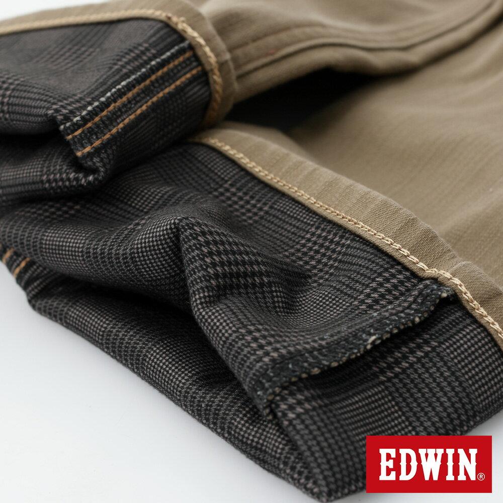 新品↘EDWIN EDGE LINE W.F 大尺碼 保溫中直筒牛仔褲-男款 褐色 STRAIGHT 9