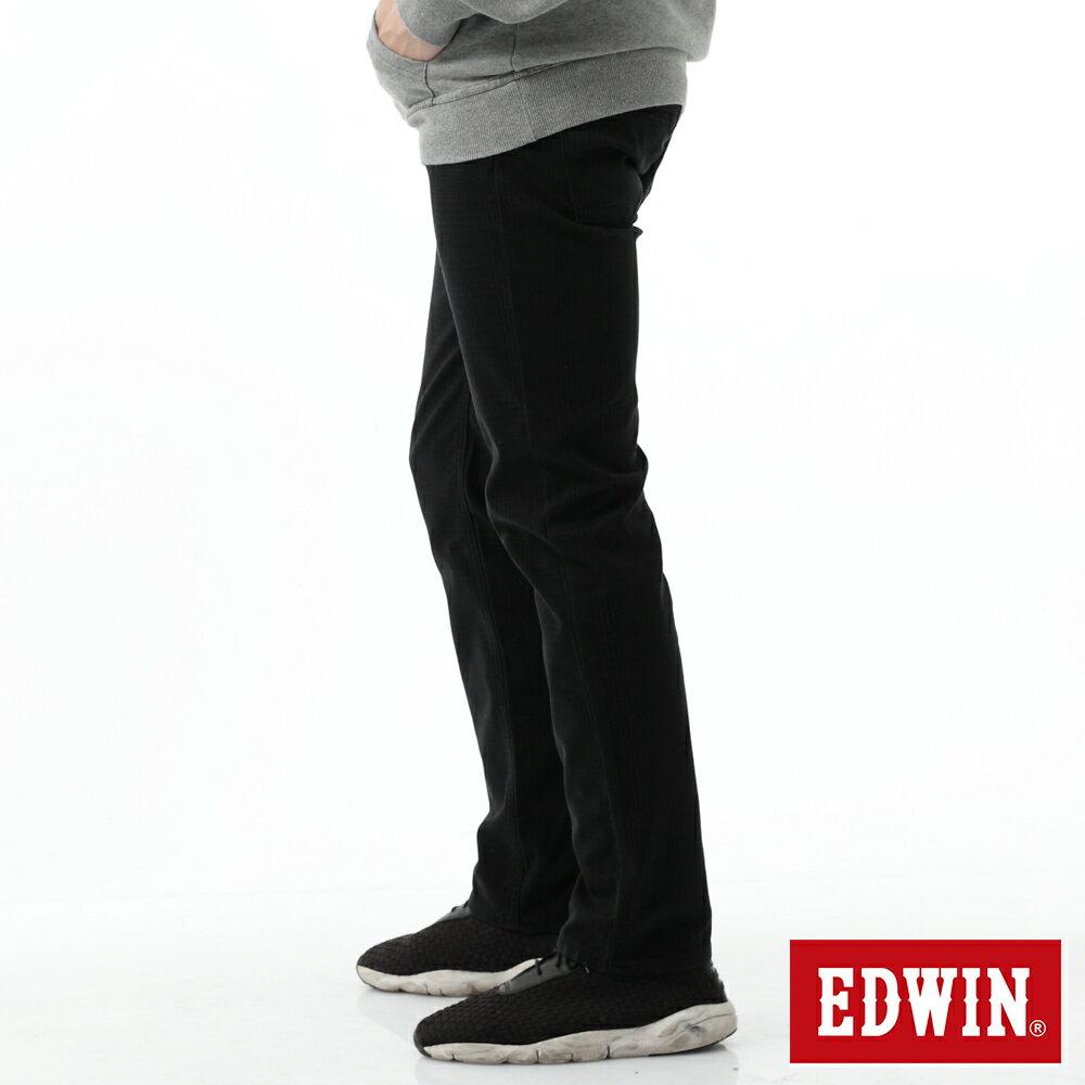 新品↘EDWIN EDGE LINE W.F 保溫中直筒牛仔褲-男款 黑格紋 STRAIGHT 3