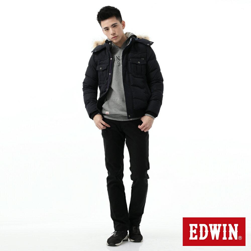 新品↘EDWIN EDGE LINE W.F 保溫中直筒牛仔褲-男款 黑格紋 STRAIGHT 4
