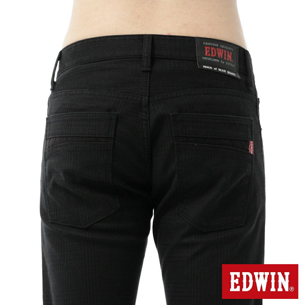 新品↘EDWIN EDGE LINE W.F 保溫中直筒牛仔褲-男款 黑格紋 STRAIGHT 6