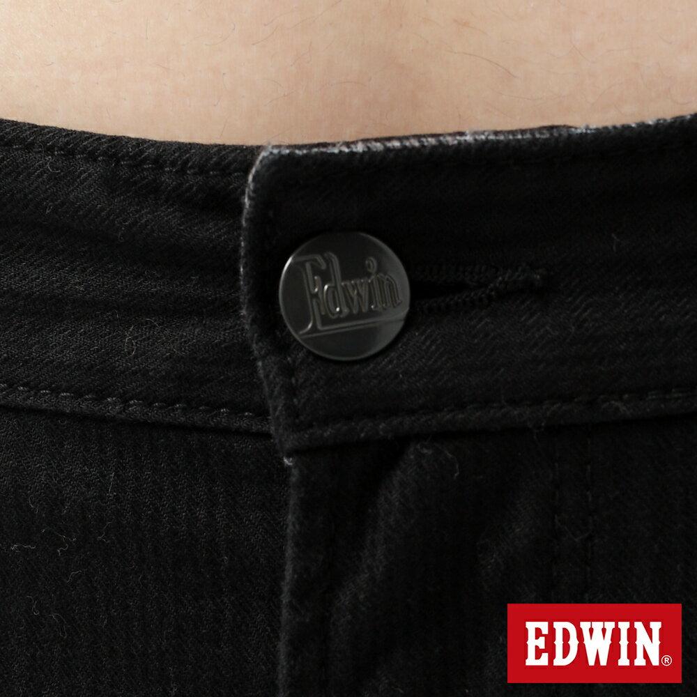 新品↘EDWIN EDGE LINE W.F 保溫中直筒牛仔褲-男款 黑格紋 STRAIGHT 7