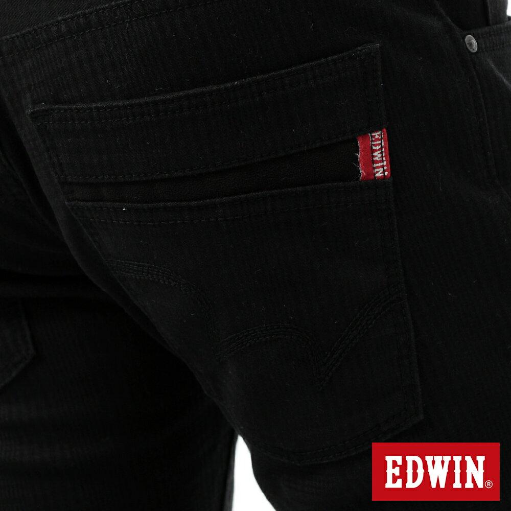 新品↘EDWIN EDGE LINE W.F 保溫中直筒牛仔褲-男款 黑格紋 STRAIGHT 9