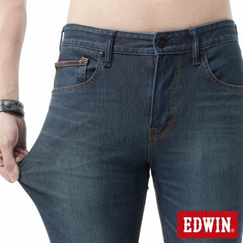 【新品送野餐墊↘】EDWIN JERSEYS x EDGE 迦績雅痞窄管牛仔褲-男款 石洗綠【9 / 30前指定新品單筆滿3800就送EDWIN迷彩野餐墊↘隨貨寄出↘】 3