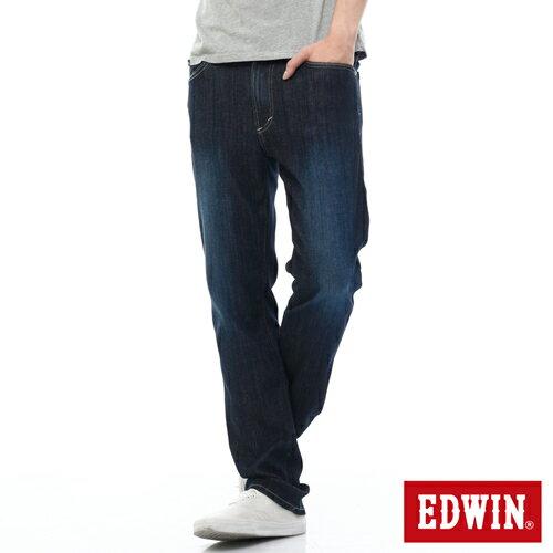 【過年加碼。2件再9折優惠↘】EDWIN 503FLEX伸縮中直筒褲-男-酵洗藍 0