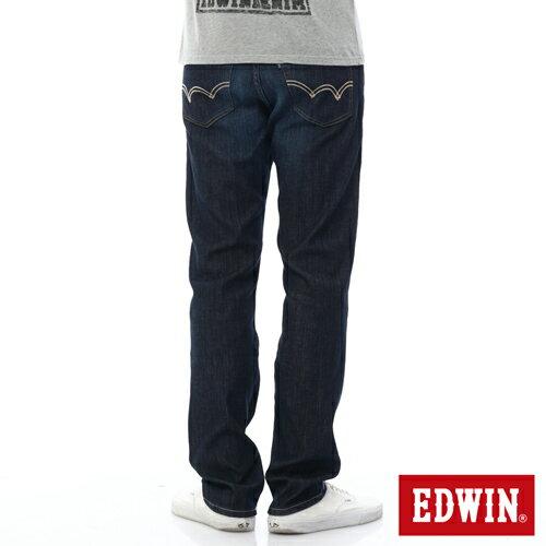 【過年加碼。2件再9折優惠↘】EDWIN 503FLEX伸縮中直筒褲-男-酵洗藍 1