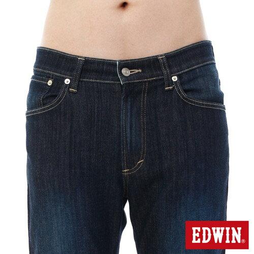 【過年加碼。2件再9折優惠↘】EDWIN 503FLEX伸縮中直筒褲-男-酵洗藍 3