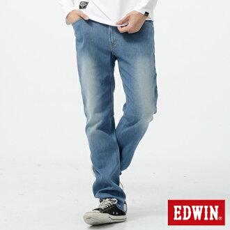 【過年加碼。2件再9折優惠↘】EDWIN 503FLEX伸縮中直筒褲-男-漂淺藍