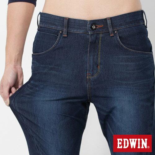 EDWIN JERSEYS 迦績 x E-F 紅袋花窄直筒牛仔褲-男款 酵洗藍 樂天獨家 SILM 3