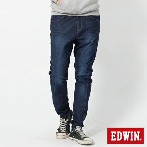 EDWIN JERSEYS 迦績 x E-F 紅袋花窄直筒牛仔褲-男款 酵洗藍 樂天獨家 SILM 0