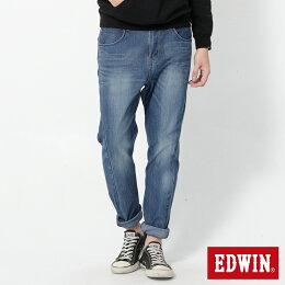 EDWIN JERSEYS 迦績 紅袋 直筒牛仔褲 男款 石洗 樂天獨家 SLIM