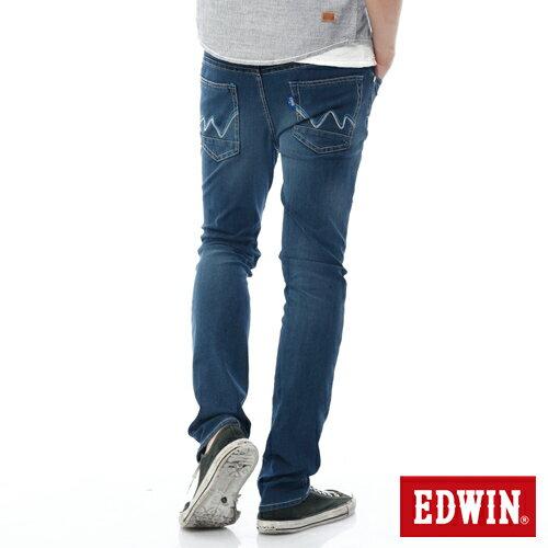 EDWIN JERSEYS 迦績 PK 大尺碼 酷涼 中直筒牛仔褲-男款 石洗綠 STRAIGHT 1