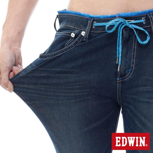 EDWIN JERSEYS 迦績 PK 大尺碼 酷涼 中直筒牛仔褲-男款 石洗綠 STRAIGHT 3