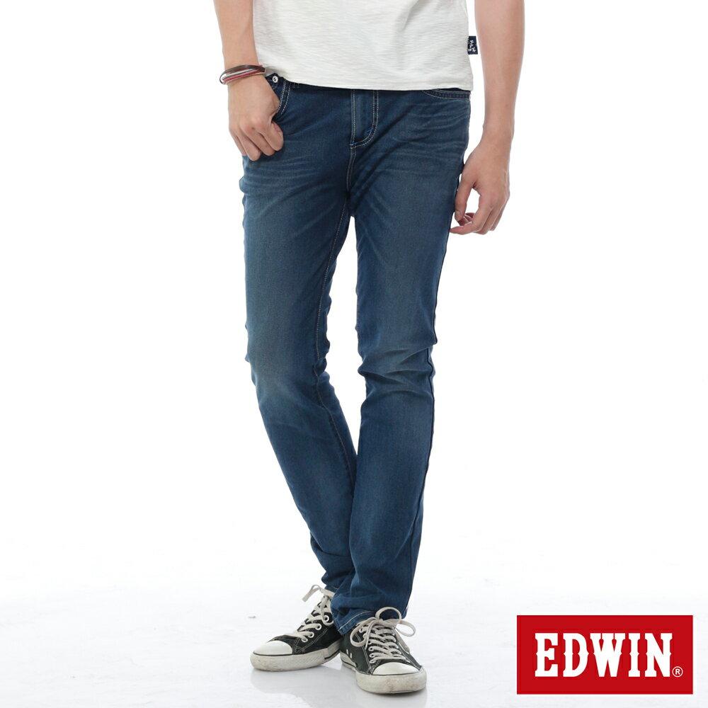 EDWIN JERSEYS 迦績 PK酷涼 中直筒牛仔褲-男款 石洗綠 樂天獨家 STRAIGHT 0