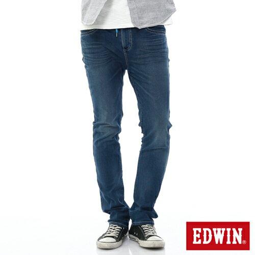 EDWIN JERSEYS 迦績 PK 大尺碼 酷涼 中直筒牛仔褲-男款 石洗綠 STRAIGHT 0