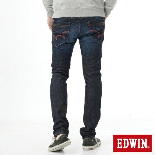 【新品上市↘】【加大碼】EDWIN EDEG雙層斜袋窄管牛仔褲-男款 原藍磨【APP下單滿799輸入代碼APP170622折100元↘序號限用一次↘】 1