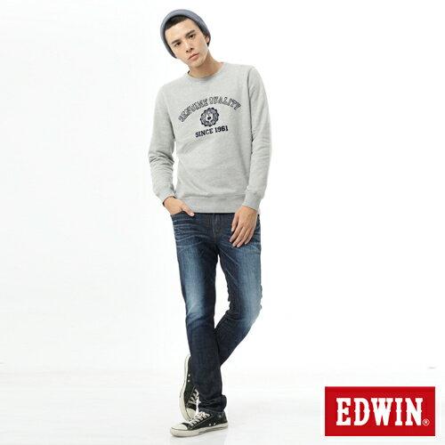 【換季最終波。任2件再9折優惠↘】【加大碼】EDWIN EDEG雙層斜袋窄管牛仔褲-男-原藍磨 2