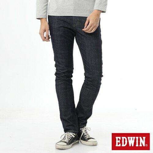 【過年加碼。2件再9折優惠↘】【加大碼】EDWIN EDEG雙層斜袋窄管牛仔褲-男-原藍色 0