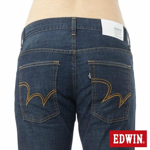 【9折優惠↘】EDWIN EDEG 輕爽COOL 中直筒牛仔褲-男-原藍 3