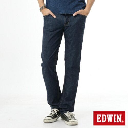 EDWIN EDGE 輕爽COOL 中直筒牛仔褲-男款 原藍 STRAIGHT