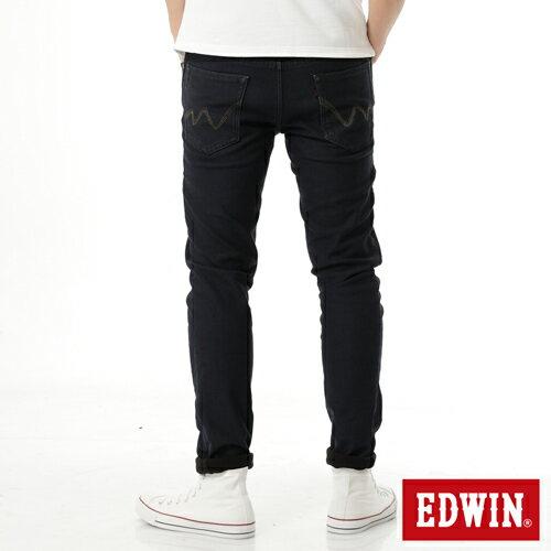 【過年加碼。2件再9折優惠↘】EDWIN JERSEYS 迦績 內層貼合保溫中直筒褲-男款 酵洗藍 1