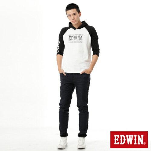 【過年加碼。2件再9折優惠↘】EDWIN JERSEYS 迦績 內層貼合保溫中直筒褲-男款 酵洗藍 3