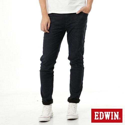 【過年加碼。2件再9折優惠↘】EDWIN JERSEYS 迦績 內層貼合保溫中直筒褲-男款 酵洗藍 0