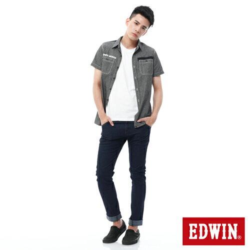 【過年加碼。2件再9折優惠↘】EDWIN JERSEYS x E-F 迦績3D剪裁中直筒牛仔褲-男款 原藍 2