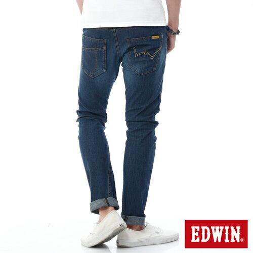 EDWIN JERSEYS 迦績 x E-F 3D剪裁中直筒牛仔褲-男款 石洗綠 樂天獨家 STRAIGHT 1