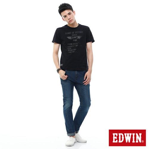 EDWIN JERSEYS 迦績 x E-F 3D剪裁中直筒牛仔褲-男款 石洗綠 樂天獨家 STRAIGHT 2