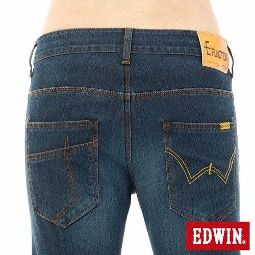 EDWIN JERSEYS 迦績 x E-F 3D剪裁中直筒牛仔褲-男款 石洗綠 樂天獨家 STRAIGHT 3