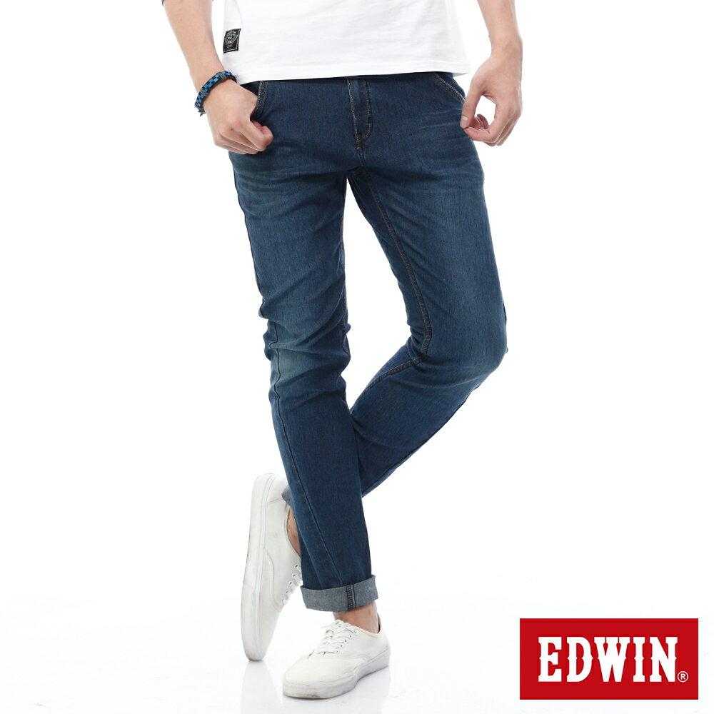 EDWIN JERSEYS 迦績 x E-F 3D剪裁中直筒牛仔褲-男款 石洗綠 樂天獨家 STRAIGHT 0