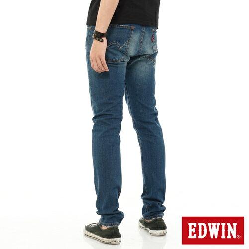 【9折優惠↘】EDWIN 503 NARROW破壞窄管牛仔褲-男-石洗藍 1