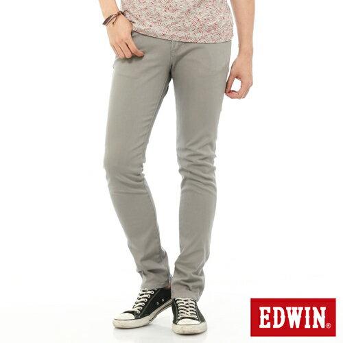 【換季最終波。任2件再9折優惠↘】EDWIN EDEG 乾爽COOL 窄直筒色褲-男-淺灰 0