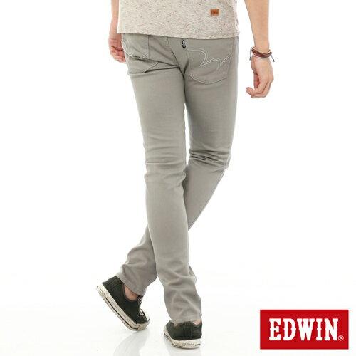【換季最終波。任2件再9折優惠↘】EDWIN EDEG 乾爽COOL 窄直筒色褲-男-淺灰 1