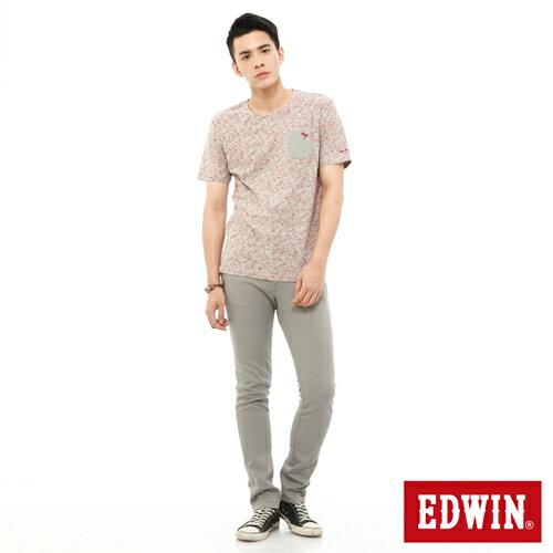 【換季最終波。任2件再9折優惠↘】EDWIN EDEG 乾爽COOL 窄直筒色褲-男-淺灰 2