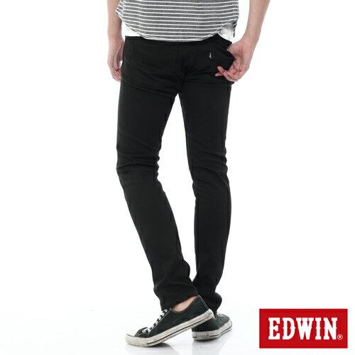 【過年加碼。2件再9折優惠↘】EDWIN EDEG 乾爽COOL 窄直筒色褲-男-黑色 1