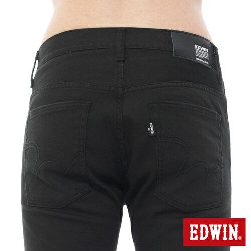 【過年加碼。2件再9折優惠↘】EDWIN EDEG 乾爽COOL 窄直筒色褲-男-黑色 3