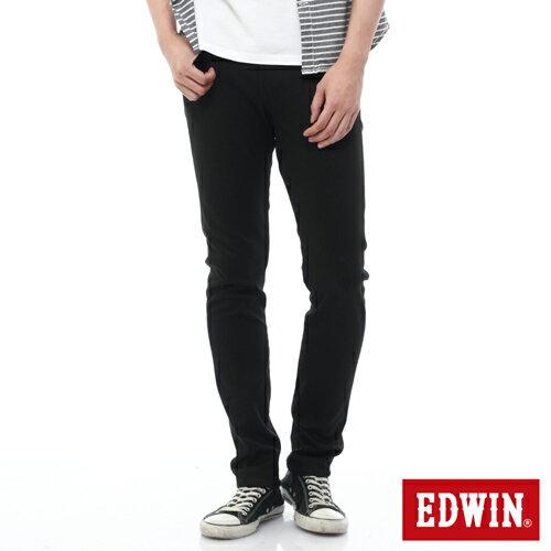 【過年加碼。2件再9折優惠↘】EDWIN EDEG 乾爽COOL 窄直筒色褲-男-黑色 0