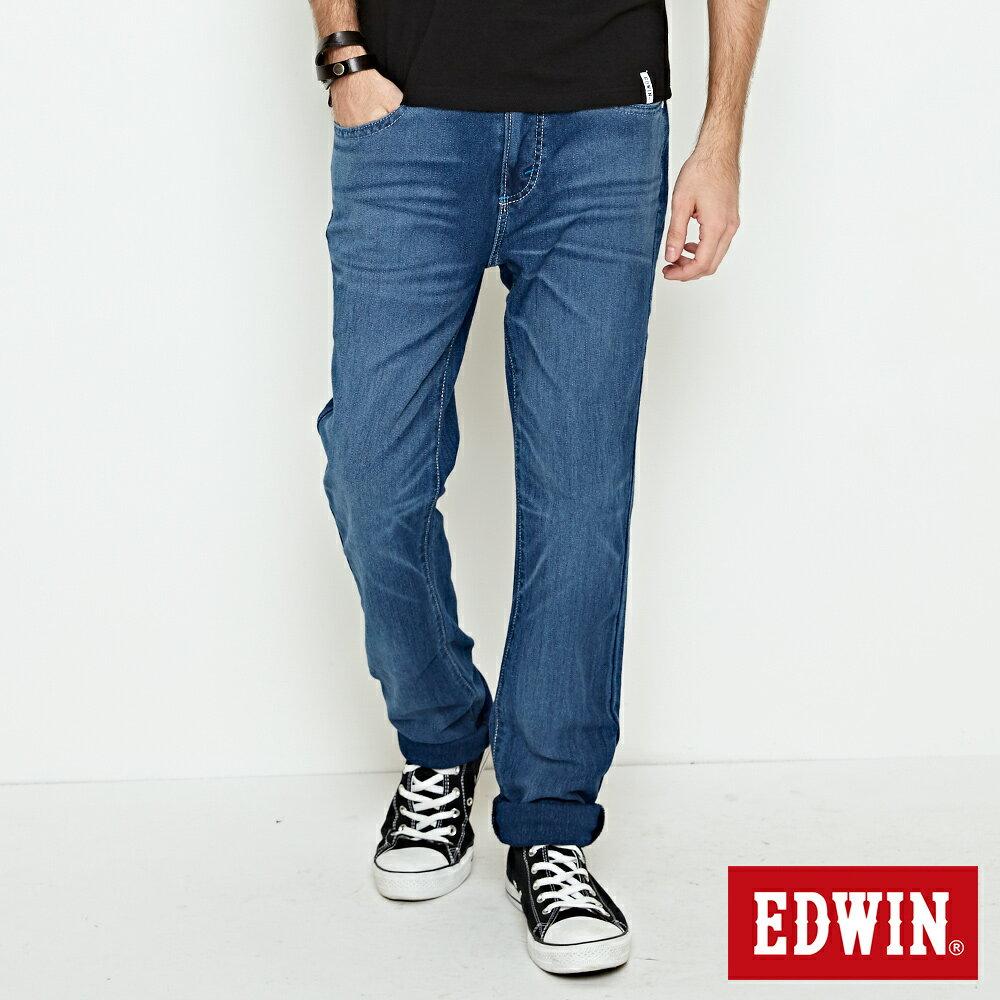 【新品上市↘】EDWIN JERSEYS 迦績涼感PK 重水洗AB牛仔褲-男款 石洗綠