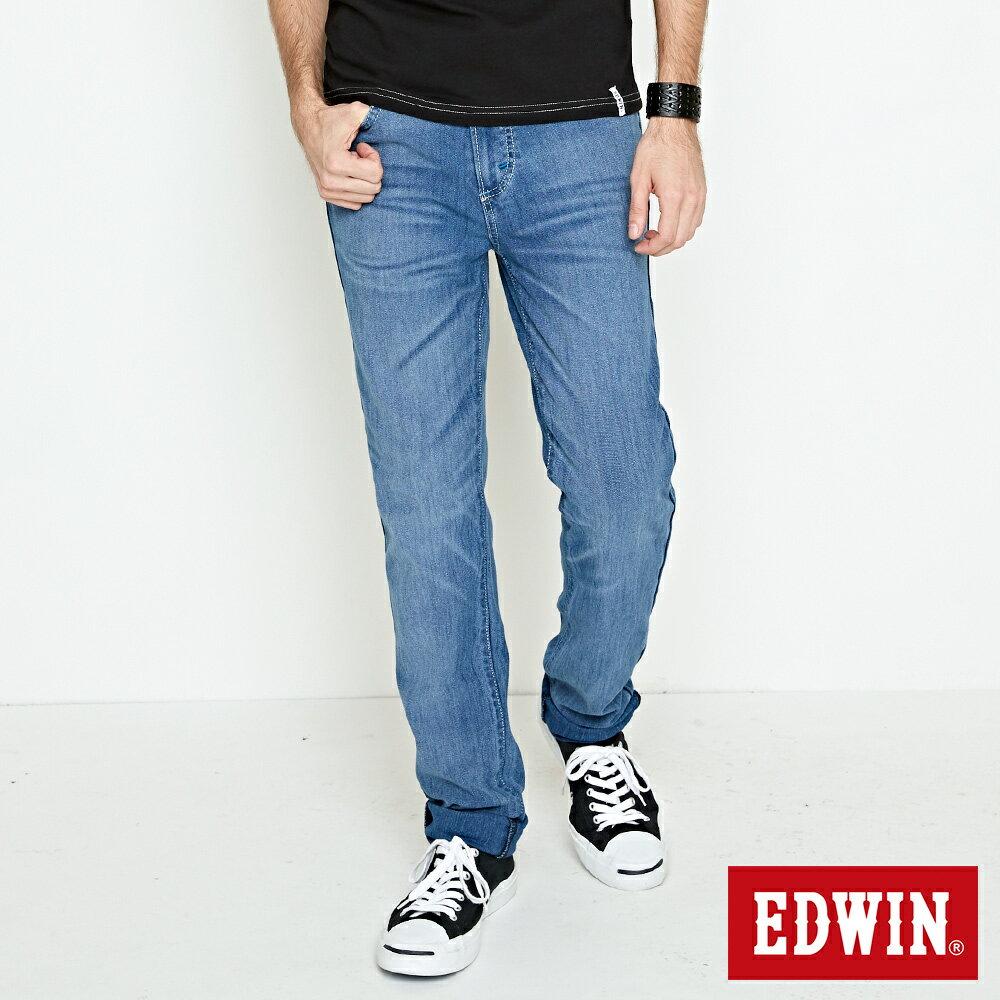 EDWIN JERSEYS 迦績 涼感PK 重水洗AB牛仔褲-男款 石洗藍 TAPERED