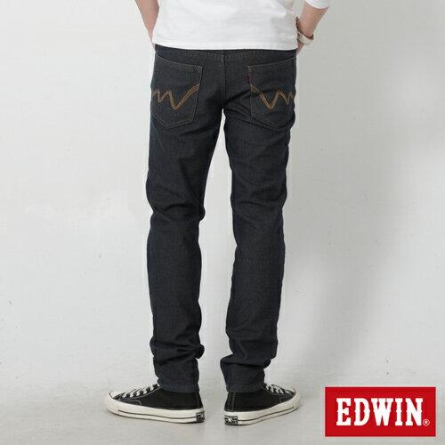 【過年加碼。2件再9折優惠↘】【大尺碼】EDWIN JERSEYS 迦績內層格紋保溫AB褲-男款 原藍磨 0