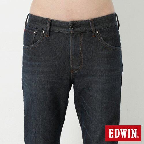 【過年加碼。2件再9折優惠↘】【大尺碼】EDWIN JERSEYS 迦績內層格紋保溫AB褲-男款 原藍磨 3